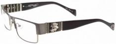 Ed Hardy EHO 733 Eyeglasses Eyeglasses - Matte Black