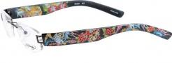Ed Hardy Lites EHL 801 Eyeglasses Eyeglasses - Black