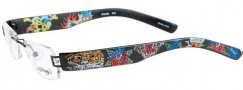 Ed Hardy Lites EHL 802 Eyeglasses Eyeglasses - Black