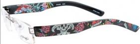 Ed Hardy Lites EHL 803 Eyeglasses Eyeglasses - Gunmetal