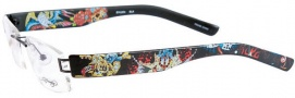 Ed Hardy Lites EHL 804 Eyeglasses Eyeglasses - Black