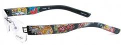 Ed Hardy Lites EHL 806 Eyeglasses Eyeglasses - Black