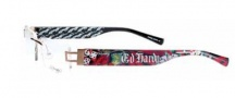 Ed Hardy Lites EHL 807 Eyeglasses Eyeglasses - Black