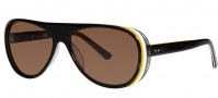 OGI Eyewear 8050 Sunglasses Sunglasses - 1294 Black Trans / Yellow White