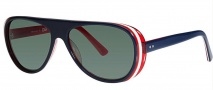 OGI Eyewear 8050 Sunglasses Sunglasses - 1291 Dark Blue Trans / Red White