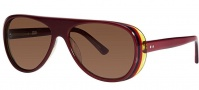 OGI Eyewear 8050 Sunglasses Sunglasses - 1293 Dark Burgundy Trans / Yellow