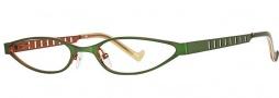 OGI Eyewear 2214 Eyeglasses Eyeglasses - 922 Green Orange