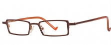 OGI Eyewear 2216 Eyeglasses Eyeglasses - 928 Brown Copper / Brown Ripple Tangerine