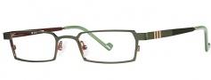 OGI Eyewear 2222 Eyeglasses Eyeglasses - 623 Dark Olive / Coffee