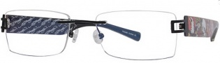 Ed Hardy Lites EHL 811 Eyeglasses Eyeglasses - Black