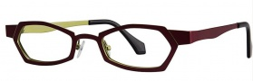 OGI Eyewear 4014 Eyeglasses Eyeglasses - 1170 Burgundy / Yellow Green