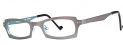 OGI Eyewear 4022 Eyeglasses Eyeglasses - 1162 Dark Gray / Aqua