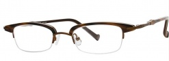 OGI Eyewear 4023 Eyeglasses Eyeglasses - 1241 Brown Cadet Stripe / Rust