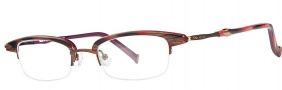 OGI Eyewear 4023 Eyeglasses Eyeglasses - 1240 Red Cadet Stripe / Chocolate
