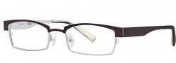 OGI Eyewear 4025 Eyeglasses Eyeglasses - 1252 Dark Gunmetal / Light Silver