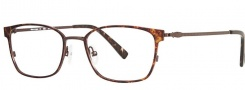 OGI Eyewear 4026 Eyeglasses Eyeglasses - 1325 Brown Demi Foil / Antique Gold