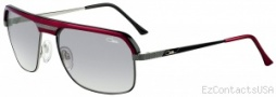 Cazal 9040 Sunglasses Sunglasses - 004 Red Black / Gray Gradient Lens
