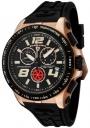 Swiss Legend Men's Sprint Racer 80040 Watch Watches -  80040-RG-01-BB Black Rubber / Rose Gold Case / Black Dial