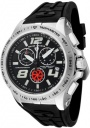 Swiss Legend Men's Sprint Racer 80040 Watch Watches - 80040-01 Black Rubber / Stainless Steel Case / Black Dial