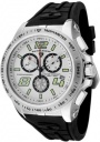 Swiss Legend Men's Sprint Racer 80040 Watch Watches - 80040-02S Black Rubber / Stainless Steel Case / Light Silver Dial