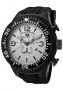 Swiss Legend Men's Neptune 11812P Watch Watches - 11812P-BB-02S Black Silicone Strap / Silver Dial