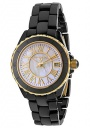 Swiss Legend Women's Karamica 20050 Watch Watches -  20050-BKWGR Black Ceramic Band / White Mother of Pearl Dial