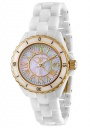 Swiss Legend Women's Karamica 20050 Watch Watches -  20050-WWGR White Ceramic Band / White Mother of Pearl