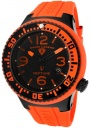 Swiss Legend Neptune 21848D Watch Watches - 21848P-BB-01-OBS Orange Silicone Strap / Black Dial