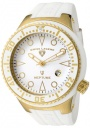 Swiss Legend Neptune 21848D Watch Watches - 21848D-YG-02-WHT White Silicone Strap / White Dial