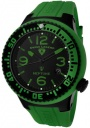 Swiss Legend Neptune 21848D Watch Watches - 21848P-BB-01-GRN Green Silicone Strap / Black Dial