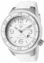 Swiss Legend Neptune 21848D Watch Watches - 21848P-02-WB White Silicone Strap / White Dial