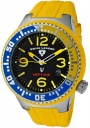 Swiss Legend Neptune 21848D Watch Watches - 21848P-01-YBL Yellow Silicone Strap / Black Dial