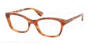 Prada PR 05PV Eyeglasses Eyeglasses - 4BW101 Light Havana Demo Lens