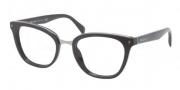 Prada PR 06PV Eyeglasses  Eyeglasses - 1AB101 Black Demo Lens