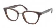 Prada PR 06PV Eyeglasses  Eyeglasses - 2AU101 Havana Demo Lens