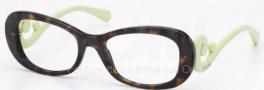 Prada PR 09PV Eyeglasses Eyeglasses - QFL1O1 Havana / Green