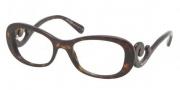 Prada PR 09PV Eyeglasses Eyeglasses - 2AU101 Havana Demo Lens
