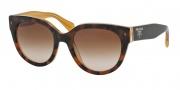 Prada PR 17OS Sunglasses Sunglasses - FAL1Z1 Top Light Havana / Opal Ye Brown Gradient
