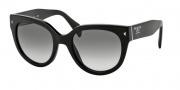 Prada PR 17OS Sunglasses Sunglasses - 1AB0A7 Black Gray Gradient