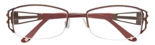 BCBGMaxazria Allegra Eyeglasses Eyeglasses - BRO Brown
