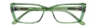 BCBGMaxazria Anastasia Eyeglasses Eyeglasses - GRN Green Crystal Laminate