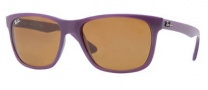 Ray Ban RB4181 Sunglasses  Sunglasses - 6034 Opal Violet / Brown Lens