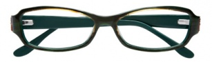 BCBGMaxazria Carrie Eyeglasses Eyeglasses - GRN Green Horn Laminate