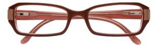 BCBGMaxazria Luciana Eyeglasses Eyeglasses - BRO Brown Salmon