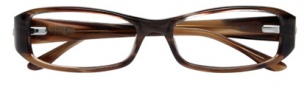 BCBGMaxazria Lucy Eyeglasses Eyeglasses - BRO Brown Horn