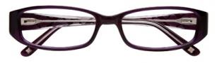 BCBGMaxazria Sebastiana Eyeglasses Eyeglasses - EGG Eggplant Laminate