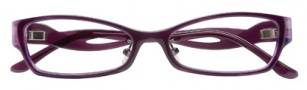 BCBGMaxazria Sybil Global Fit Eyeglasses Eyeglasses - PLU Plum Horn Laminate