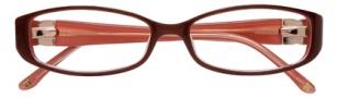 BCBGMaxazria Velia Eyeglasses Eyeglasses - BRO Brown Salmon