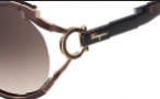 Salvatore Ferragamo SF600S Sunglasses Sunglasses - 220 Pearl Dark Brown