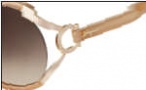 Salvatore Ferragamo SF600S Sunglasses Sunglasses - 266 Pearl Beige
